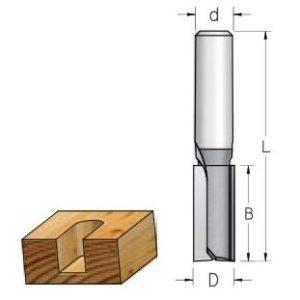 Фрезы пазовые (цилиндрические, прямые)